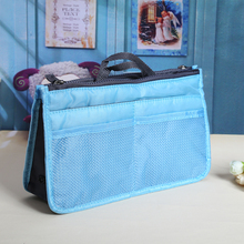 Travel Portable Double Zipper Storage Bag Organiser Handbag Outdoor Cosmetic Storage Organizer Bag For Make Up Ipad
