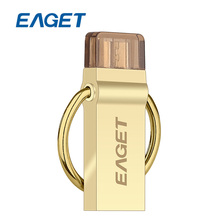 EAGET V90 USB Flash Drive16GB 32GB 64GB USB 3.0 OTG Pen Drive 16 GB 32 GB 64 GB Micro USB Stick Storage Memory Metal Encryption(China)