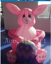 giant inflatable Easter eggs and  Easter bunny for party festival decoration