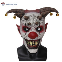 X-MERRY TOY Jingle Jangle The Clown Horror Latex Halloween Scary Head Mask Free Shipping x12048