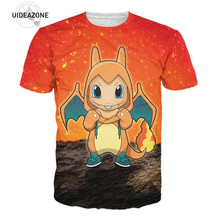 Mangas de Pokemon Pikachu T Shirt Charmander Clothing Summer Men Women T-Shirt 3D Print Classic Anime Cartoon Unisex Fashion Tee