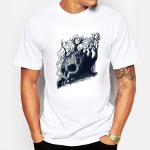 The Summer Men T-shirt Death Tree Print Creative Shirts Cool Cotton Tshirt Short Sleeve Streetwear Swag T shirts Plus Size(China)
