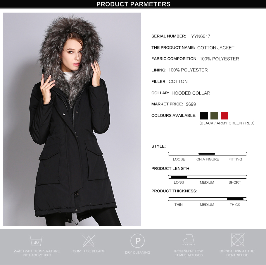0339616974d84 COUTUDI 2017 New Arrival Winter Jacket Coat Women s Clothing Thick ...