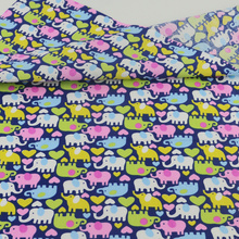 Cute Elephant Cotton Fabric Teramila Fabrics Tecido Quilting Patchwork Sewing Cloth Bedding Decoration Tissue Home Textile Craft(China)