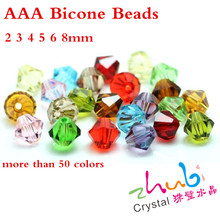 Czech Crystal Bicone Beads 3 4 5 6 8mm Red AAA Top Cut 16 Faceted Glass Loose Crafts Material Beading For DIY Costume Jewelery