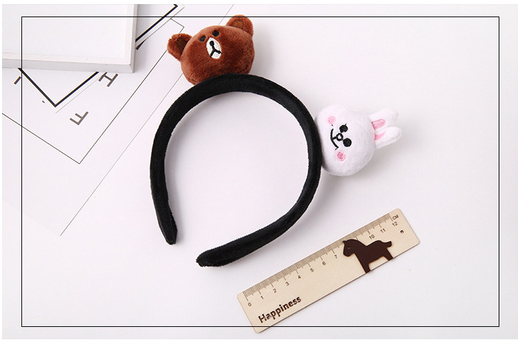 kids baby infant child girls and Mom Cute little rabbit bear headwrap hair bands Small yellow duck elastic ribbon headband Accessories (5)