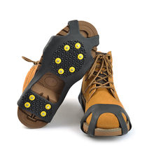 10-Stud Universal Ice No Slip Snow Shoe Spikes Grips Cleats Crampons Winter Climbing No Slip Shoes Cover Popular