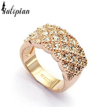 Iutopian Brand Rose  Color Ring Made With Austrian crystal Stellux Top Quality Gift Jewelry #RA13639
