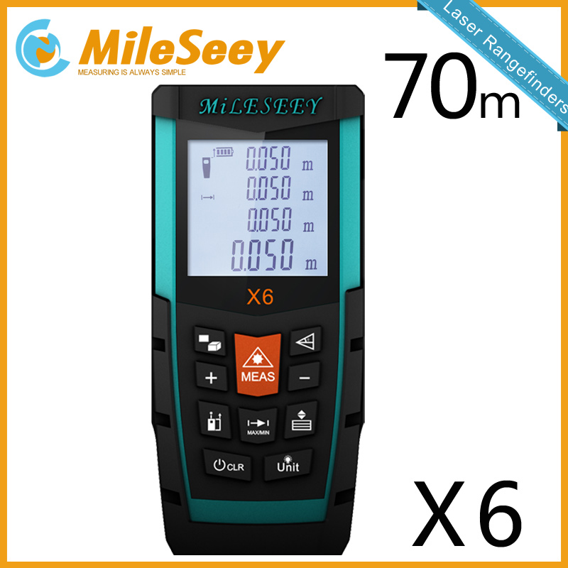 Mileseey X6 70M Laser Meter Measure Distance Hunting Tool  Blue  Range Finder Tool for Measure Laser<br>