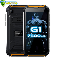 "Geotel G1 Smartphone Andriod 7.0 MTK6580A Quad Core 5.0"" Screen 2GB RAM 16GB ROM 7500Mah Big battery Power Bank 3G Mobile phone"