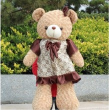 Free shipping teddy bear plush toy Large brown skirt bears doll