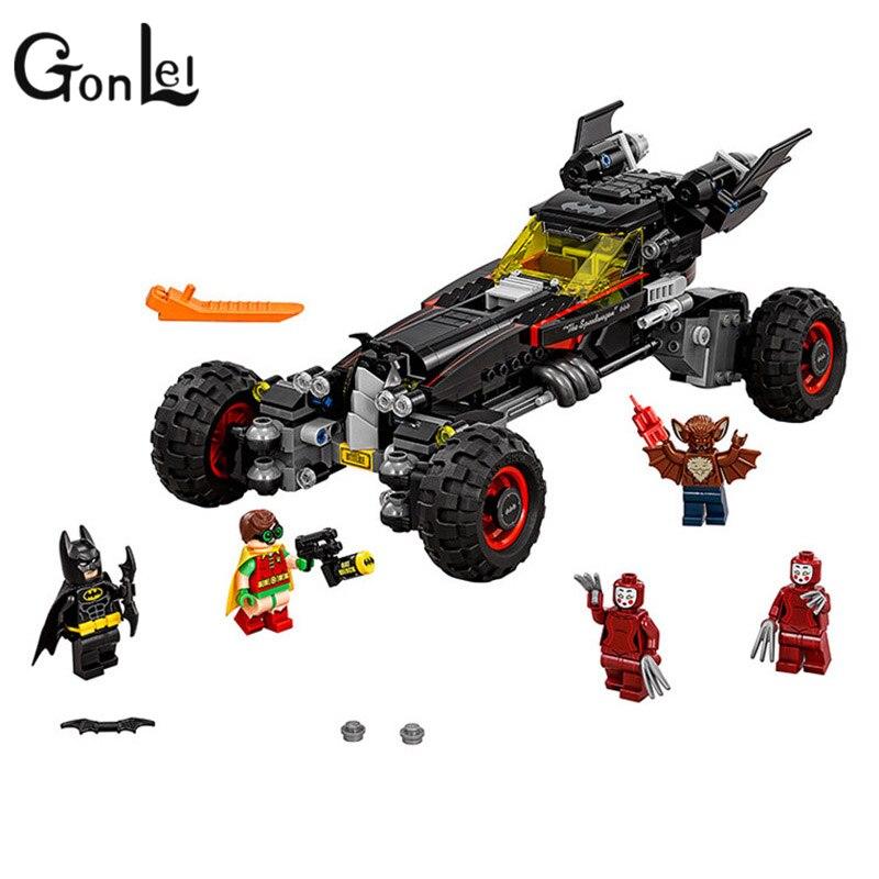 GonLeI NEW 610pcs 10634 BATMAN MOVIE The Batmobile Building Blocks set DIY Bricks toys Gift for children Compatible lepin 70905<br>
