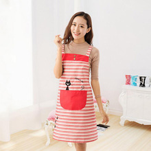 kitchen accessories striped embroidery fun kitchen apron Korean version of the cute cat harness-style sleeveless aprons 5zcx446