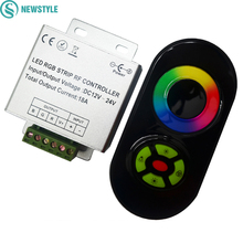 DC 12V 24V RGB LED Controller 5 Keys Touch Remote Control 18A 3 Channel Common Anode for rgb led strip lighting