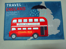 D11004 London BUS simple style mat Non-slipcarpet doormat kitchen