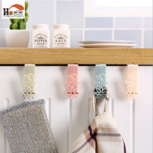 CUSHAWFAMILY 2 pcs hollowed-out pattern plastic hook cabinet door hook Multi-functional Clothing Hanger Sundry Hanging Hooks(China)