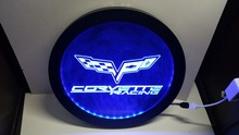 b-257 Chevrolet corvette RGB led Multi Color the wireless control beer bar pub club neon light sign Special gift