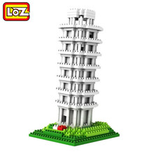 LOZ Tower of pisa Diamond Block World Famous Architecture Series Tuscany Italy City Building Blocks toys Classic toy(China)