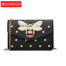 Brand Bag Women Messenger Bags Little bee Handbags crossbody bags for Women Shoulder Bags Designer Handbags with pearl-3334(China)