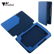 AMZDEAL Luxury PU Leather Skin Case For Amazon Kindle 4/ Kindle 5 eBook Flip Thin Protective Smart Cover Case Wallet Blue