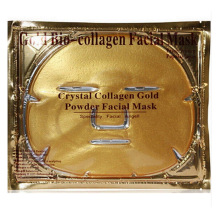 Gold Bio-Collagen Facial Mask Face Mask Crystal Gold Powder Collagen Facial Mask Moisturizing Anti-aging 0364 1pcs(China)