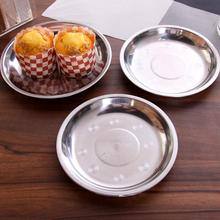 1pc Stainless Steel Plate High Quality Feeding Dish Anti-drop Tableware