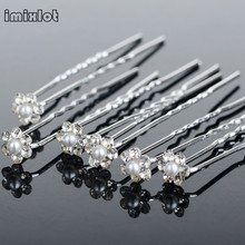 New 40PCS Bridal Crystal Pearl Flower Hair Pins Bridesmaid Wedding Jewelry Hair Clips U Pick Tiara Hair Jewelry Accessories