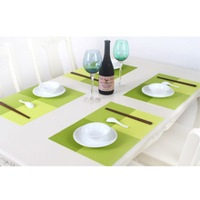 4 Colors PVC Heat Resistant Waterproof Placemats Insulation Mat Table Coasters Bowl Pads Kitchen Dining Table Decoration