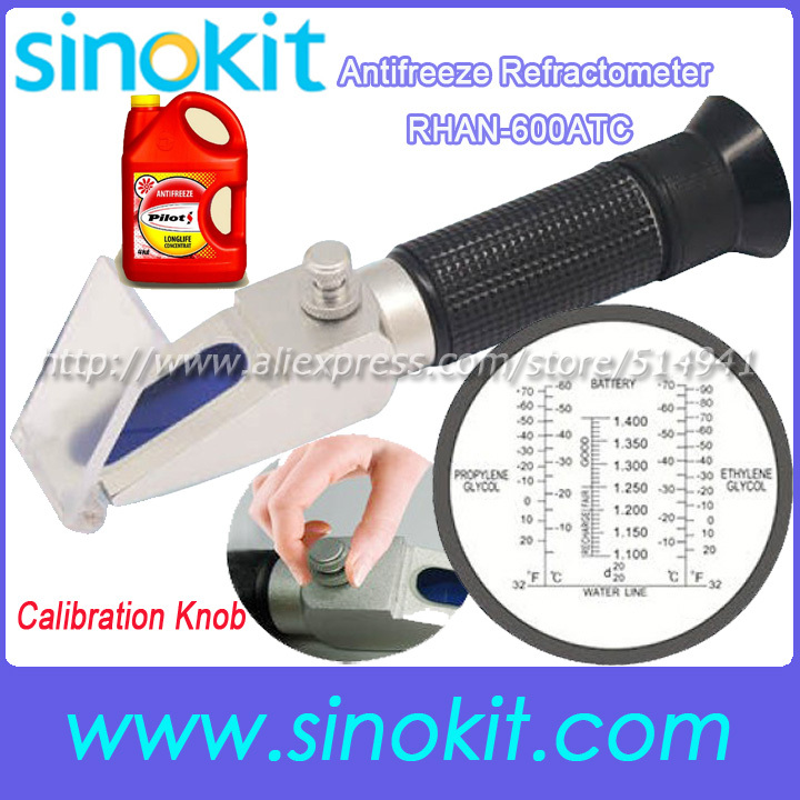 Hot sales New Design with Calibration knob antifreeze battery Ethylene Glycol refractometer - RHAN-600ATC<br>