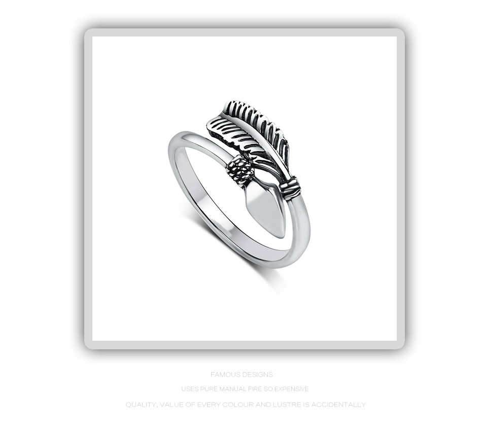 Resizable Sterling Silver Cupid Arrow Ring