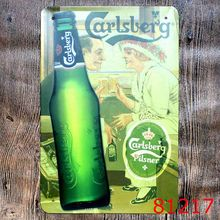 Vintage Home Decor The Carlsberg Beer Vintage Metal Tin Sign Plate Sign Wall Decoration for Cafe and Restaurant Tin Beer Signs