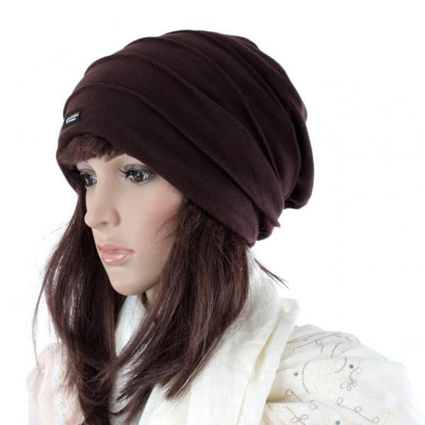2015 Real Sale Hats For Balaclava Double Layer Pleated Knitted Hat General Autumn And Winter hats for women and men beanie hats Îäåæäà è àêñåññóàðû<br><br><br>Aliexpress