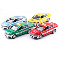 1:32 free shipping Volkswagen lavida taxi Alloy Diecast Car Model Pull Back Toy Car model Electronic Car with light&sound KidToy