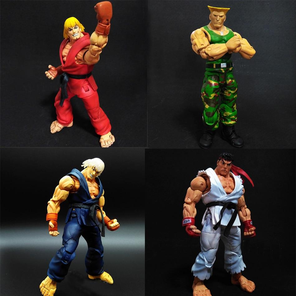 Street Fighter 4 Akuma Gouki  RYU KEN Masters Guile game X box psp PVC 16cm Predators Figures opp bag  Movable<br><br>Aliexpress