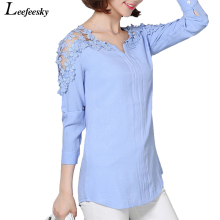 Buy 4XL Womens Tops Blouses 2017 Autumn Cotton Linen Blouse Womens Long Sleeve Tops Lace Crochet Shirts Plus Size Women Clothing for $10.55 in AliExpress store