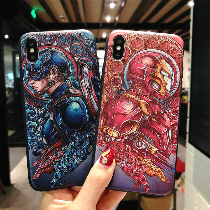 coque iphone 8 marvel 3d