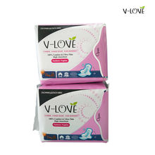 VLOVE Disposable Maternity Pads with Nona-silver and Anion Chip Normal absorbency 2packs/set( 20pieces)