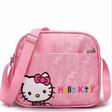 New Year Cartoon Hello kitty Character Pink Child Bags Fashion Messenger Bag hellokitty Christmas Gift Bag Girl Women Cute(China)