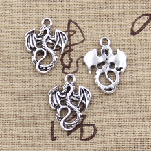99Cents 8pcs Charms dragon loong 21*16mm Antique Tibetan Silver Pendant Findings Accessories DIY Vintage Choker Necklace