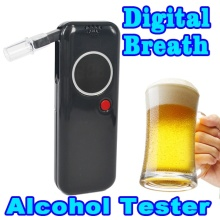New Police Professional alcohol tester Digital Breath Tester Breathalyzer Analyzer Red LED Backlight Portable For Drive Safety