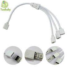 Tanbaby 4Pin RGB Connector 1 to 2, 1 to 3 , 1 to 4 , for RGB color 3528 5050 strip  RGB strip extend wire