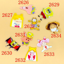 1 PC Acrylic Brooches Cartoon Anime SpongeBob Luffy Brooches Backpack Student Clothes Brooches Pins On Bag Decor Brooch Badges(China)