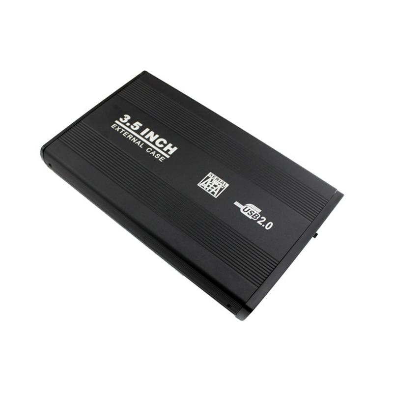 3.5 inch Silver USB 2.0 SATA External HDD HD Hard Drive Enclosure Case Box Cover