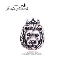 Original 925 sterling silver lion charms beads diy jewelry Fits for Pandora Bracelets free shipping(China)