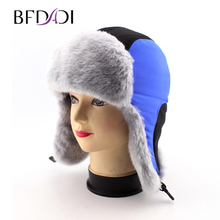 BFDADI 2017 hot sale high quality children Fashion fox fur lei feng cap fur hat thermal snow cap winter hat Free Shipping