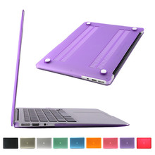 ultra thin laptop case for macbook air 13.3 inch hard pc purple color best wishes for apple laptop A1466 case cover(China)