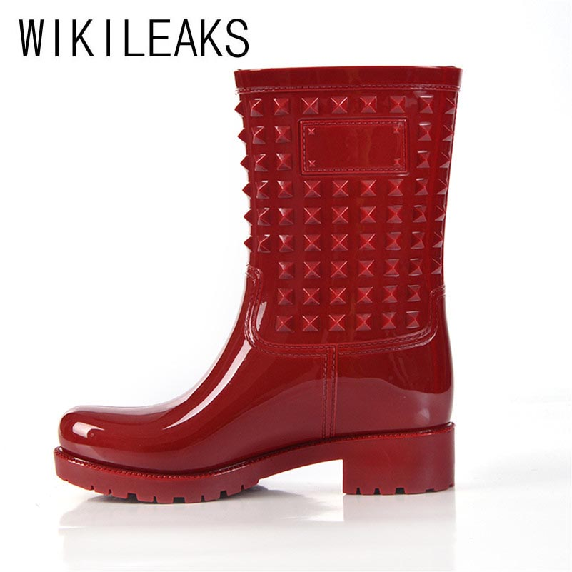 Wikileaks New Zapatos Mujer Shoes Woman Plus Size Women Round Toe Low Heel Rains Boots Shoes  Fashion Black Khaki Women Boots <br><br>Aliexpress