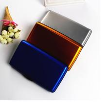 2017 New men and women general metal purse women fashion casual wallet metal material purse men Large capacity wallet women