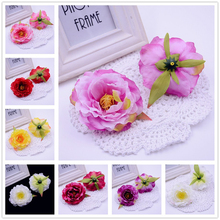 5pcs Silk Peony Artificial Flower For Wedding Home Party Decoration Mariage Flores Clothing Hats Accessories Tree Peony Flowers