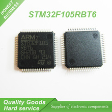 10PCS free shipping STM32F105RBT6 STM32F105 RBT6 QFP64 ARM Microcontrollers - MCU 32BIT Cortex 64/25 CONNECTIVITY LINE M3